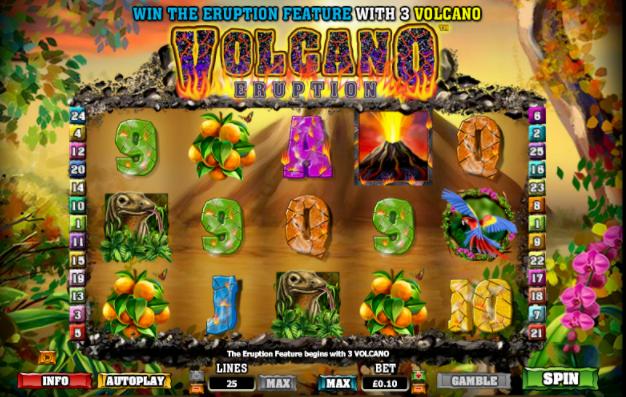 Volcano Eruption Slots gameplay