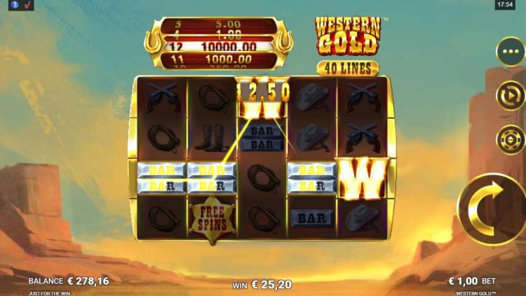 Western Gold Slot Win