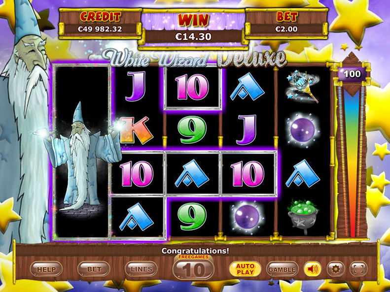 White Wizard Deluxe Slots gameplay