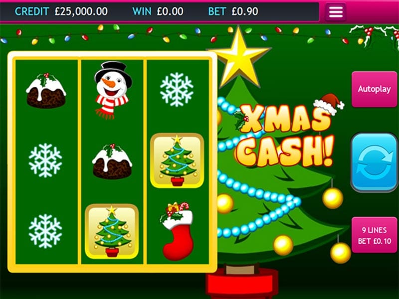 Xmas Cash game screen