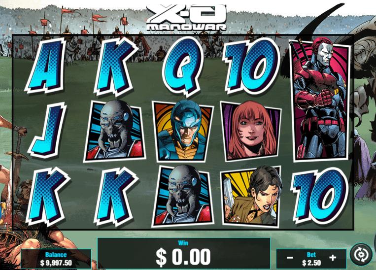 XO Manowar online slots game logo