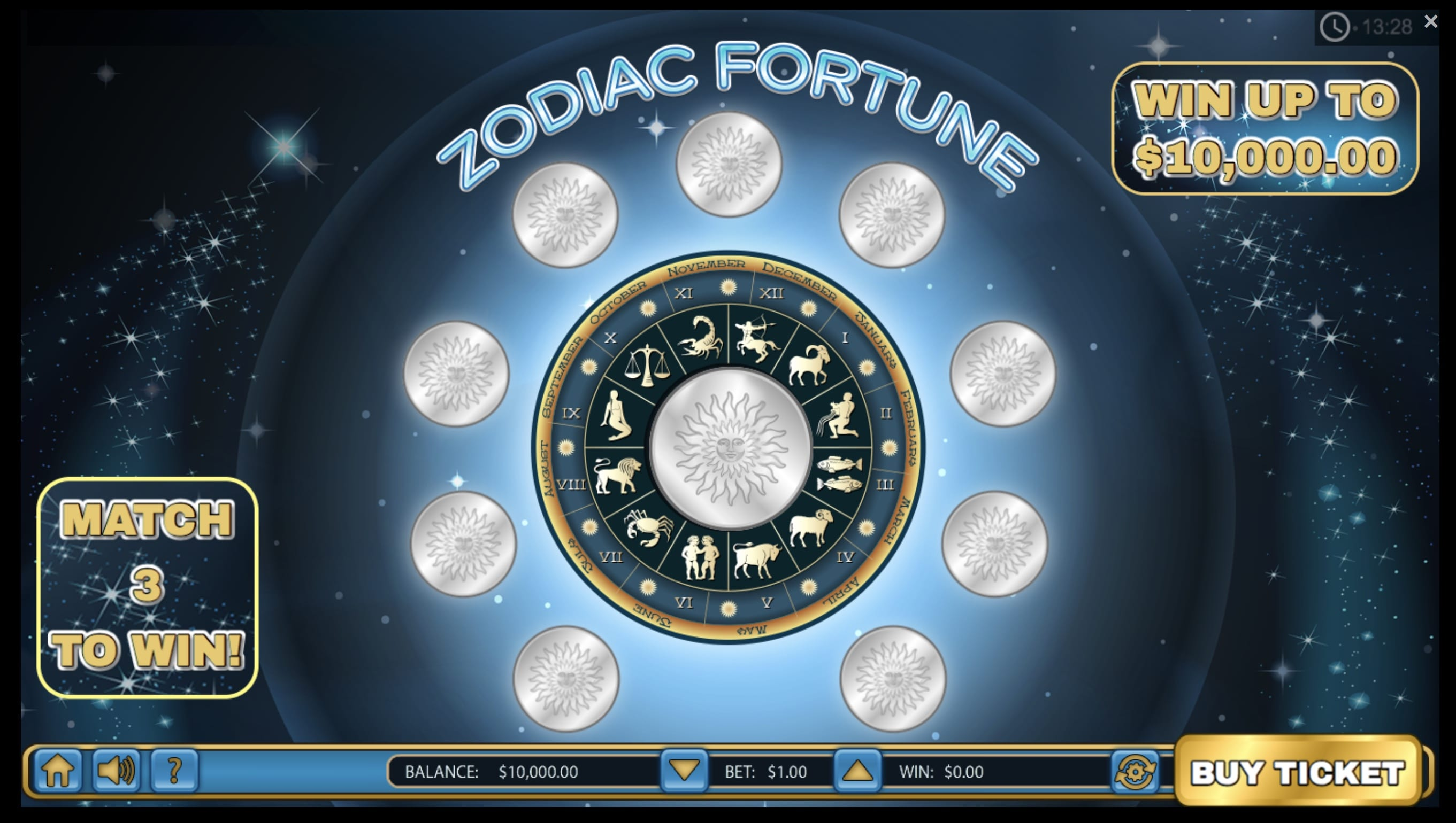 Zodiac Fortune Online slot game gameplay
