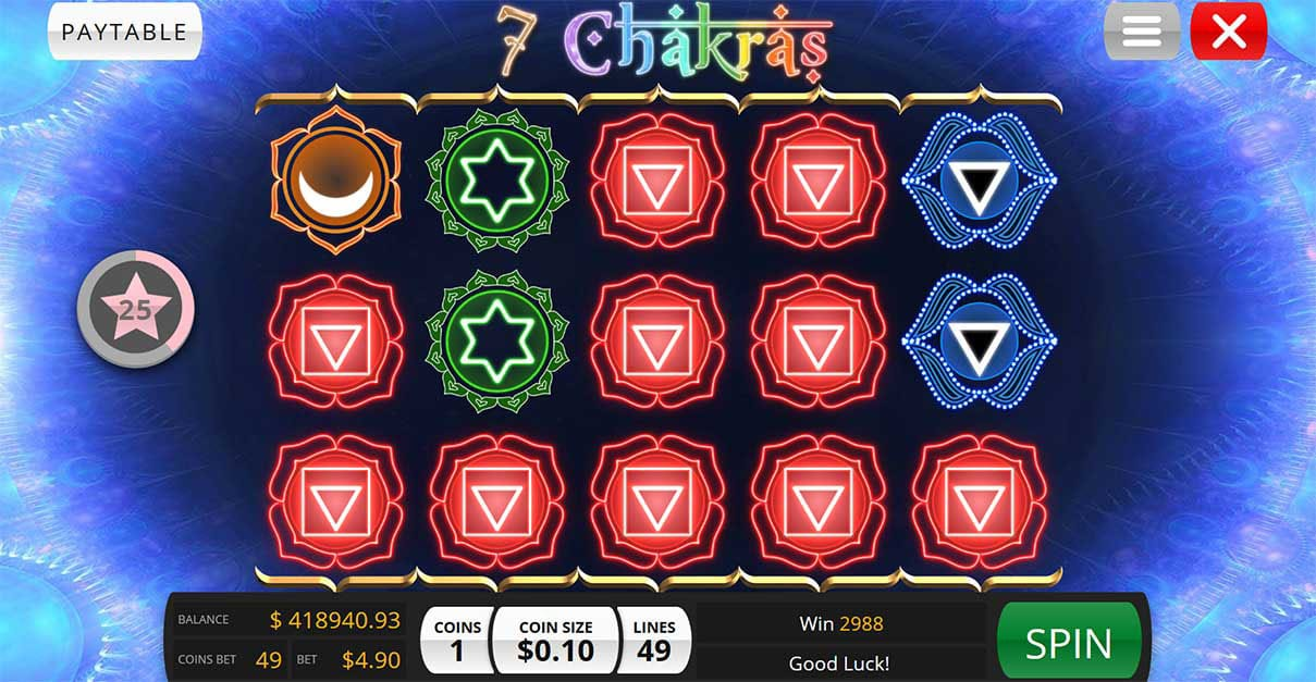 7 Chakras Casino gameplay