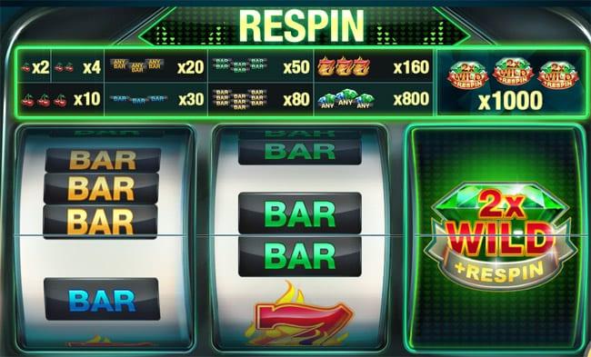 Emerald Diamond Slot Re-Spin