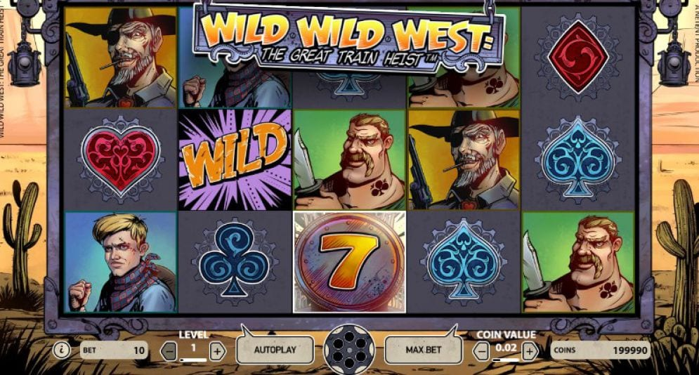 Wild Wild West : The Great Train Heist Slots Gameplay