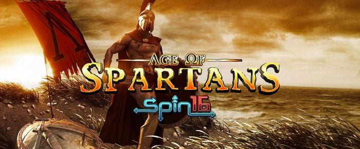 Age of Spartans Spin16 slots game logo