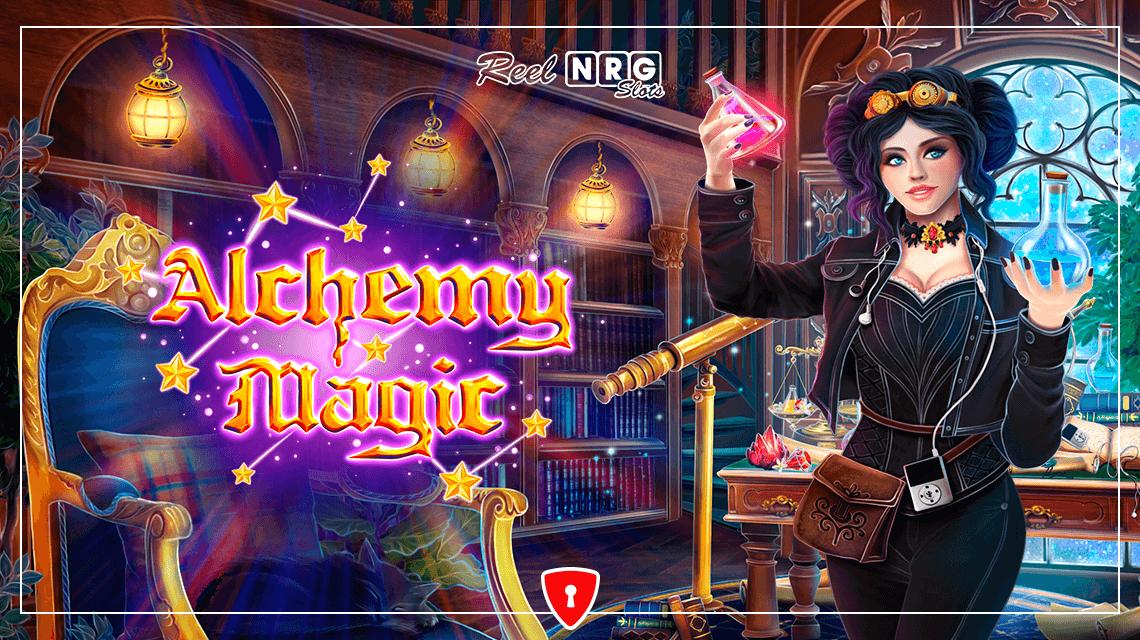 Alchemy Magic Slot Logo Wizard Slots