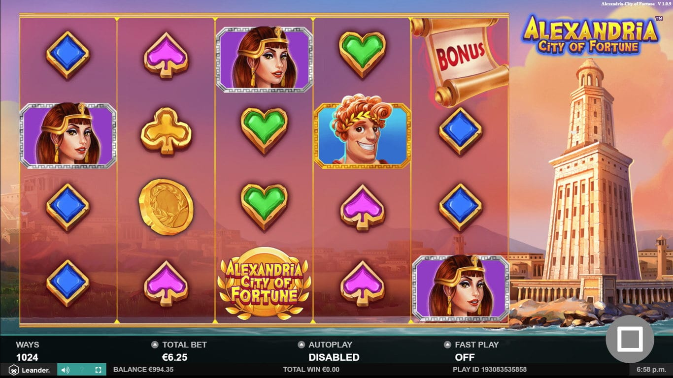 Alexandria City of Fortune Slots Game
