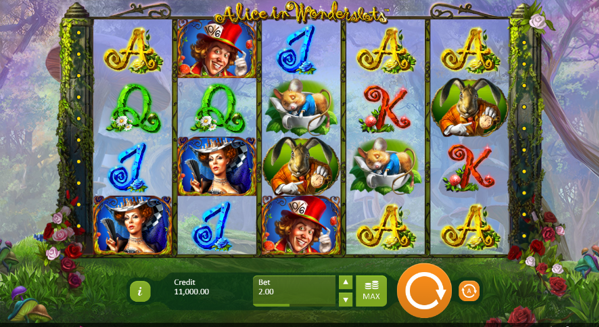 Alice in Wonderslots slots game logo