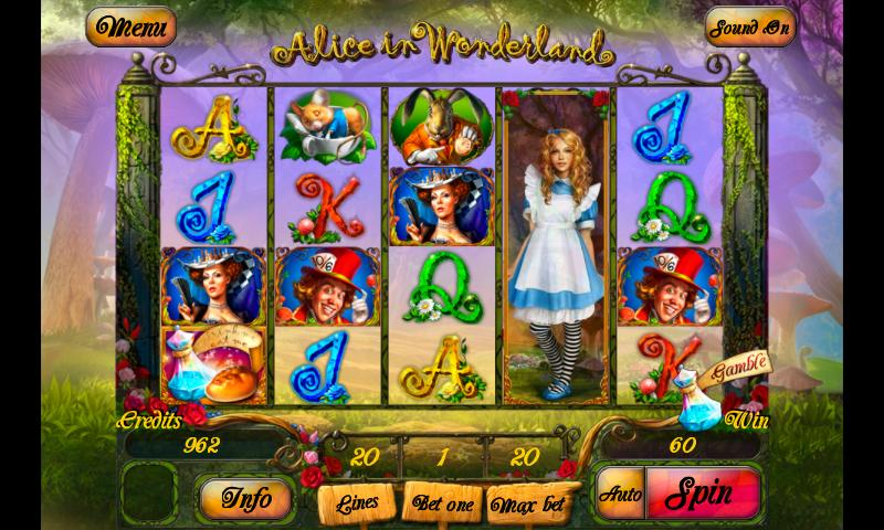 Alice in Wonderslots Games