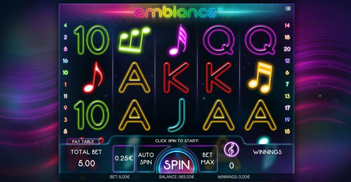 Ambiance Free Slots