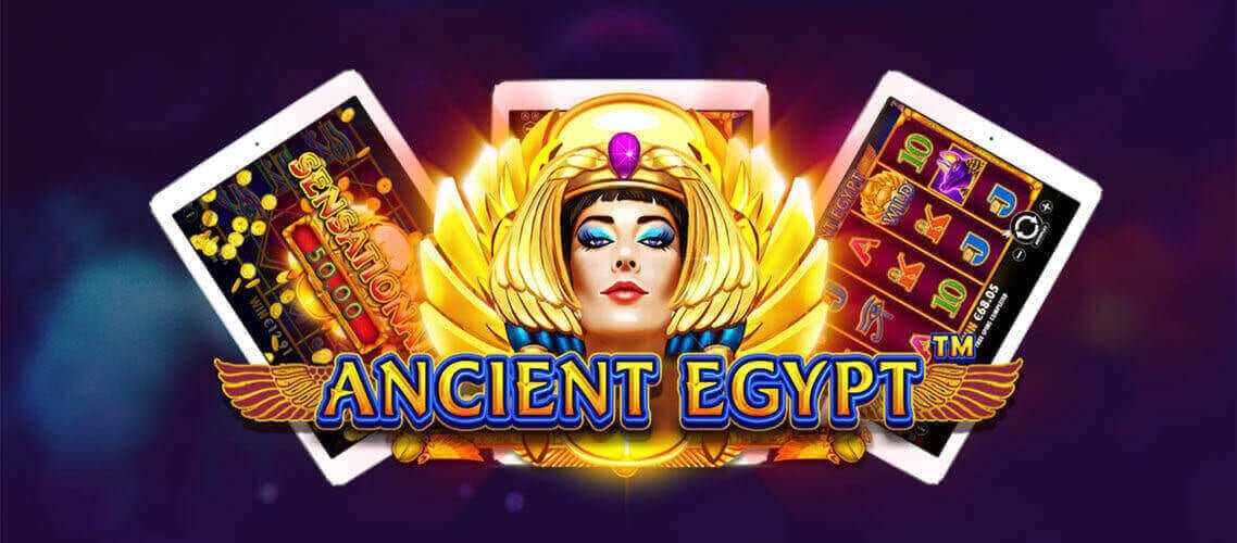 ancient egypt slots game logo
