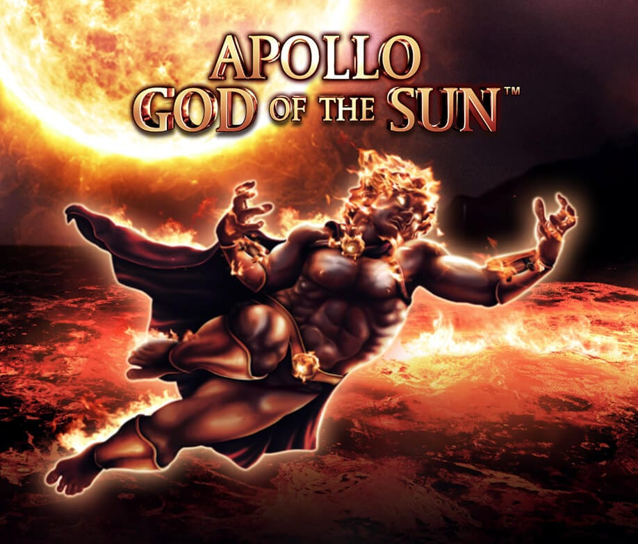apollo god of the sun slots game logo