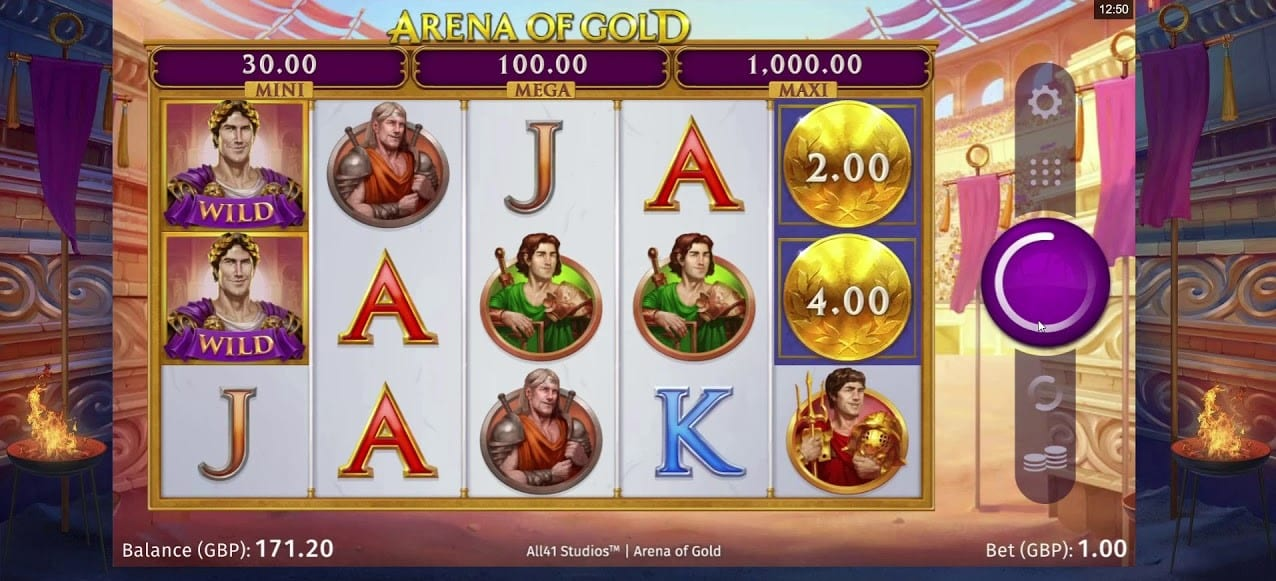 Arena of Gold Free Slots