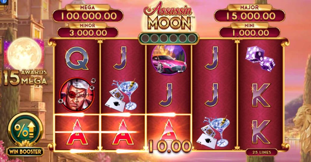 Assassin Moon Slots Gameplay