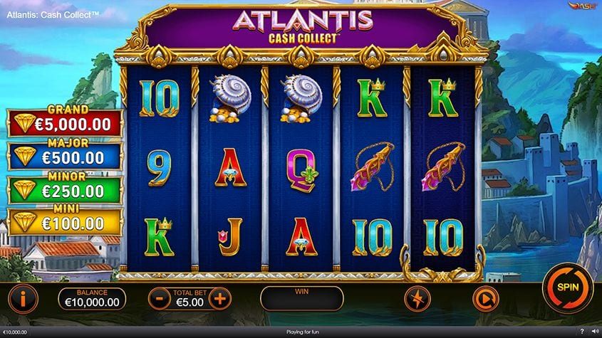 Atlantis Cash Collect Slots Gameplay