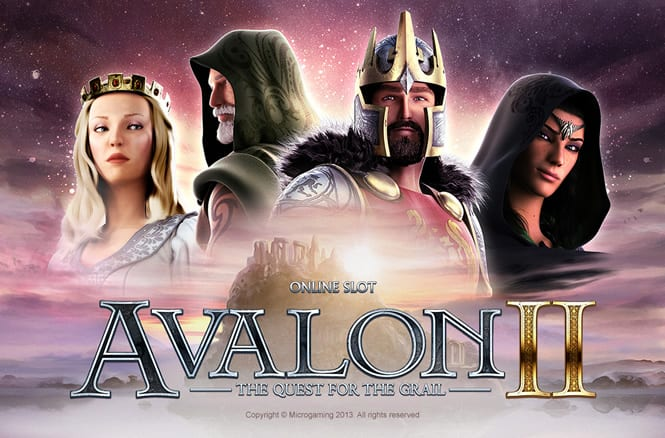 Avalon II - Quest for The Grail slots game logo