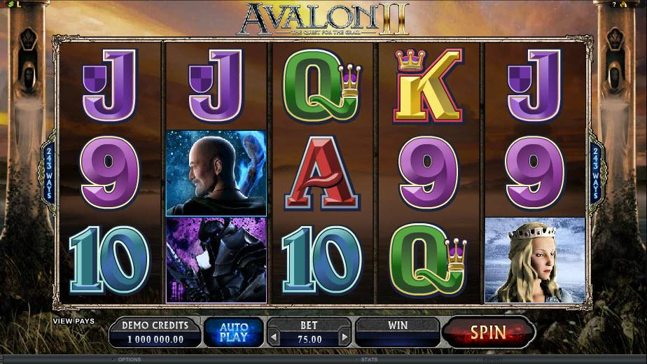 Avalon II - Quest For The Grail slots gameplay