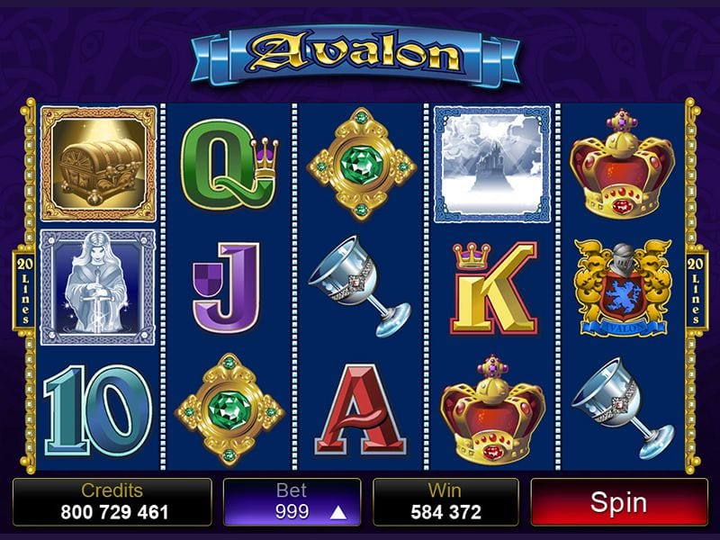 Avalon slot gameplay