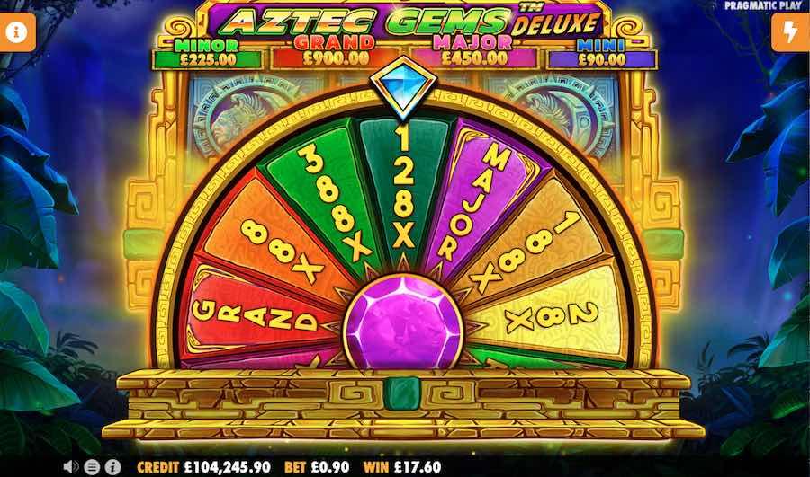 Aztec Gems Deluxe Slot wheel of fortune