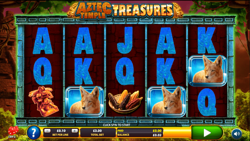 Aztec Temple Treasures Slot Gameplay