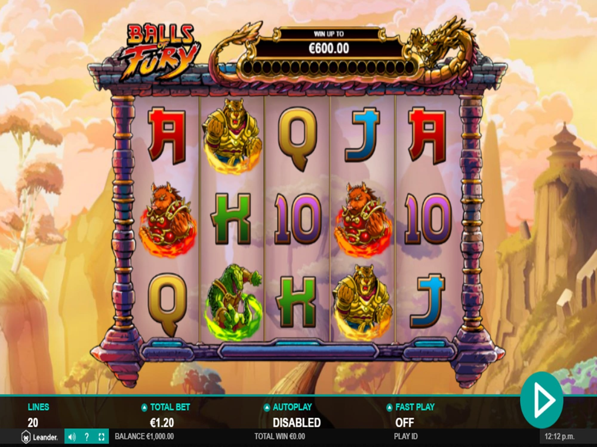Balls Fury Slot UK