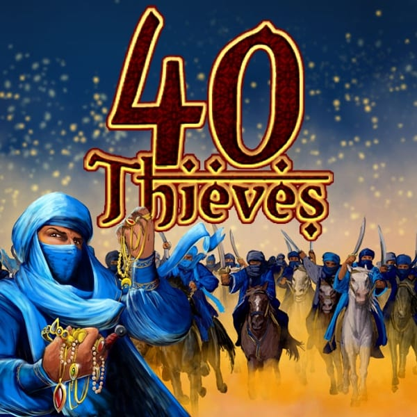 Forty Thieves online slots scratch logo