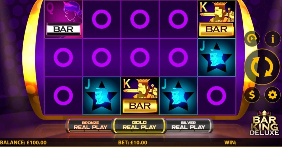 Bar King Deluxe Slot Gameplay