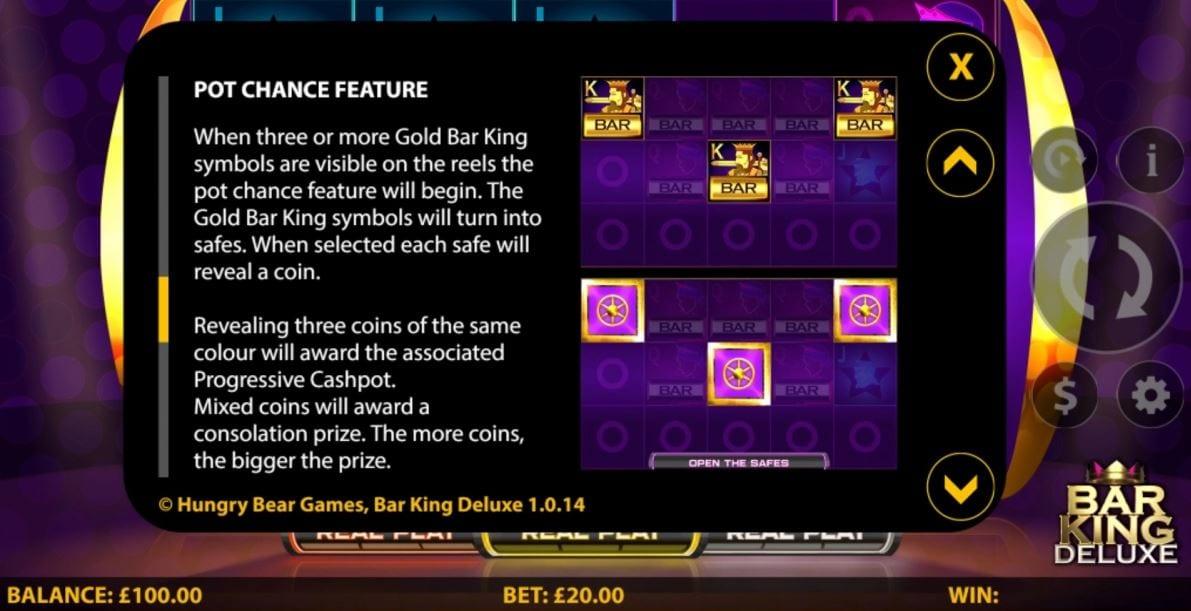 Bar King Deluxe Slot Info