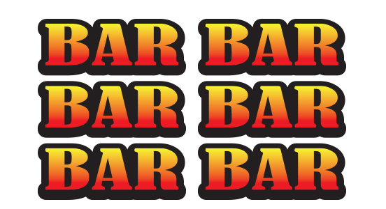 Ball Fruit Bar symbols