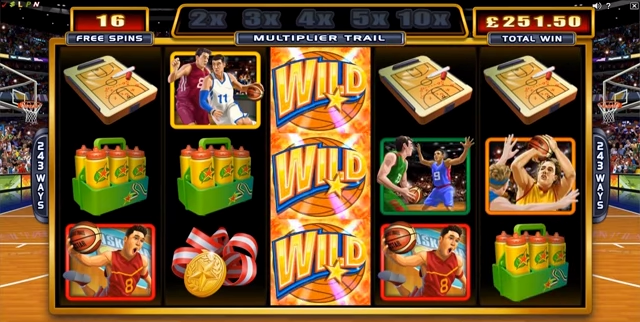 Basketball Star online slots game gameplay