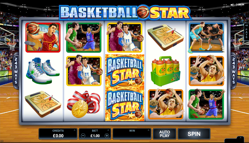 Basketball Star slots gameplay