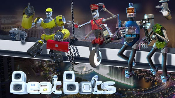 beat bots slots game logo