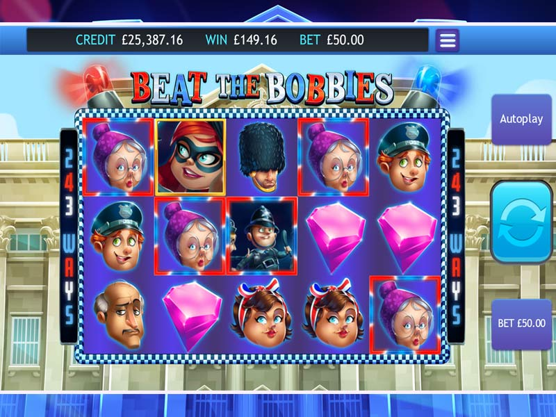 Beat The Bobbies slots gameplay