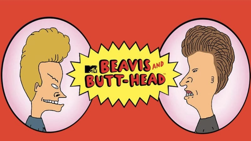 Beavis and Butthead slot logo