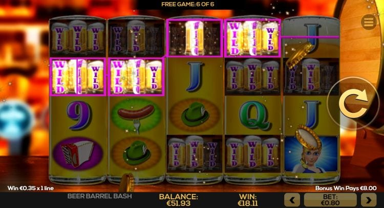 Beer Barrel Bash gameplay casino slot