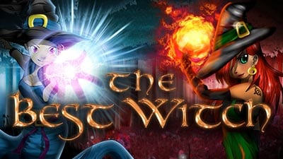 The Best Witch online slots game logo