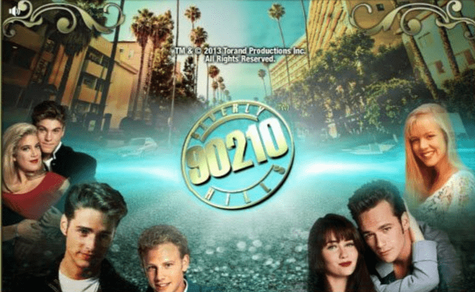Beverly Hills 90210 slots game logo