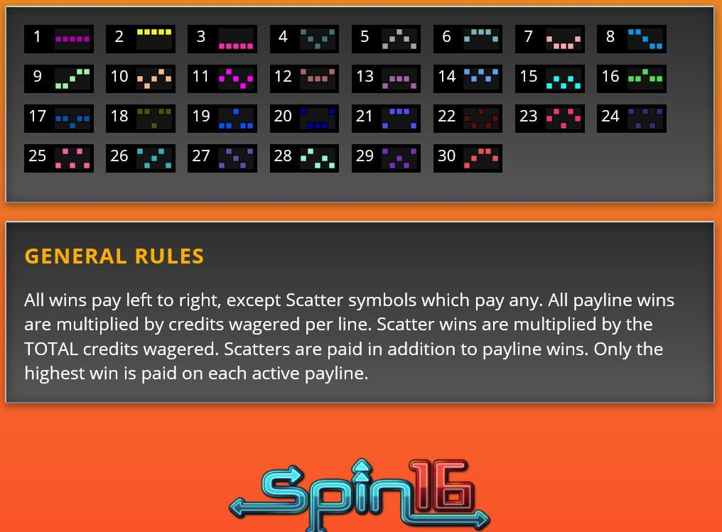 big game spin16 game rules