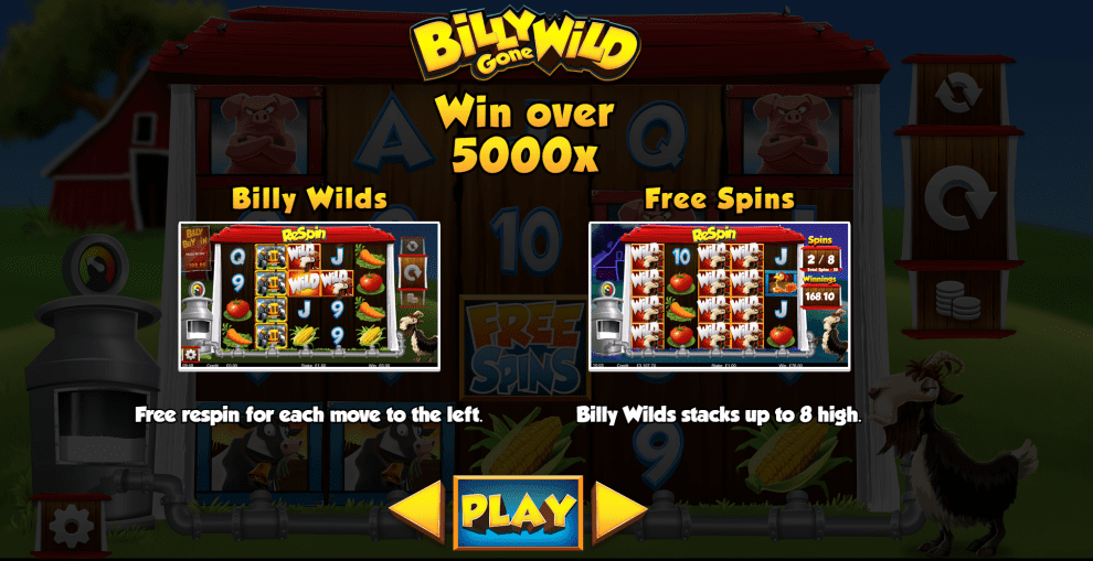 Billy Gone Wild Slot Symbols