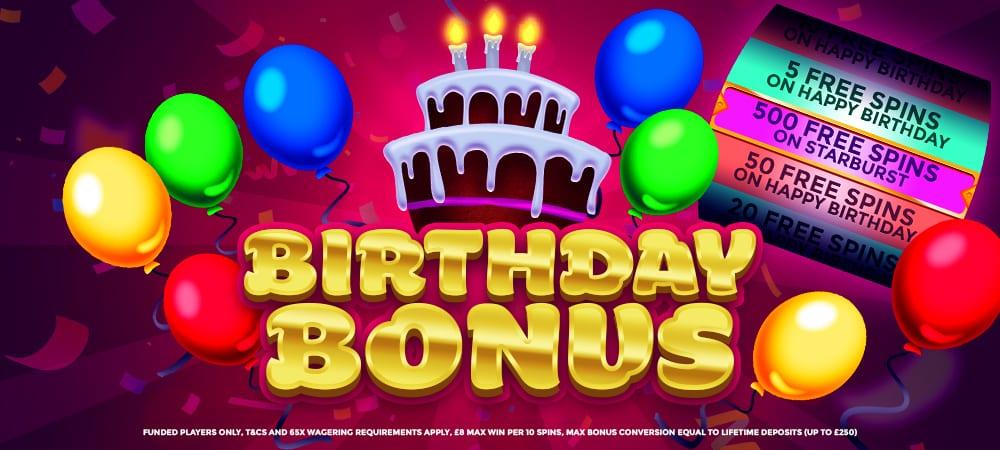 Wizardslots - BirthdayBonus - Offers