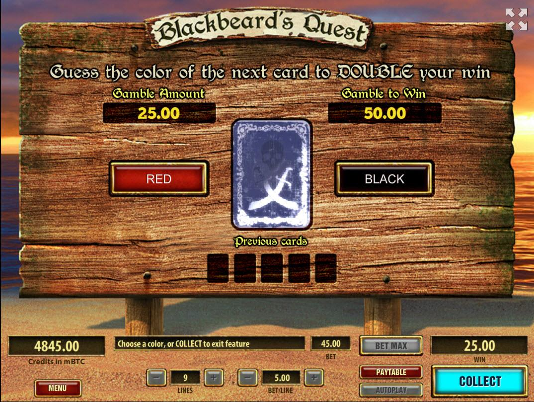 Blackbeard's quest bonus feature