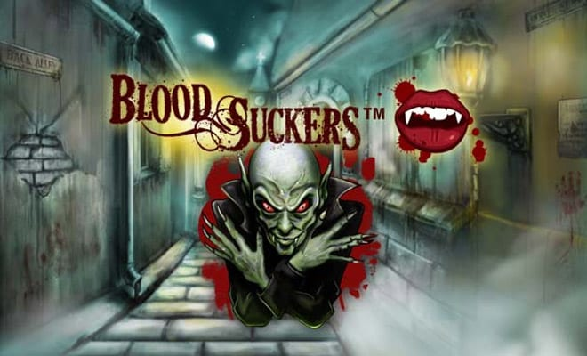 Bloodsuckers online slots game logo Blood Suckers