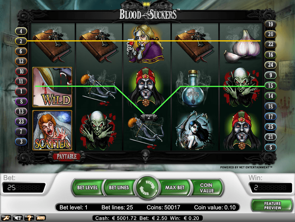 Blood Suckers online slots game win lines