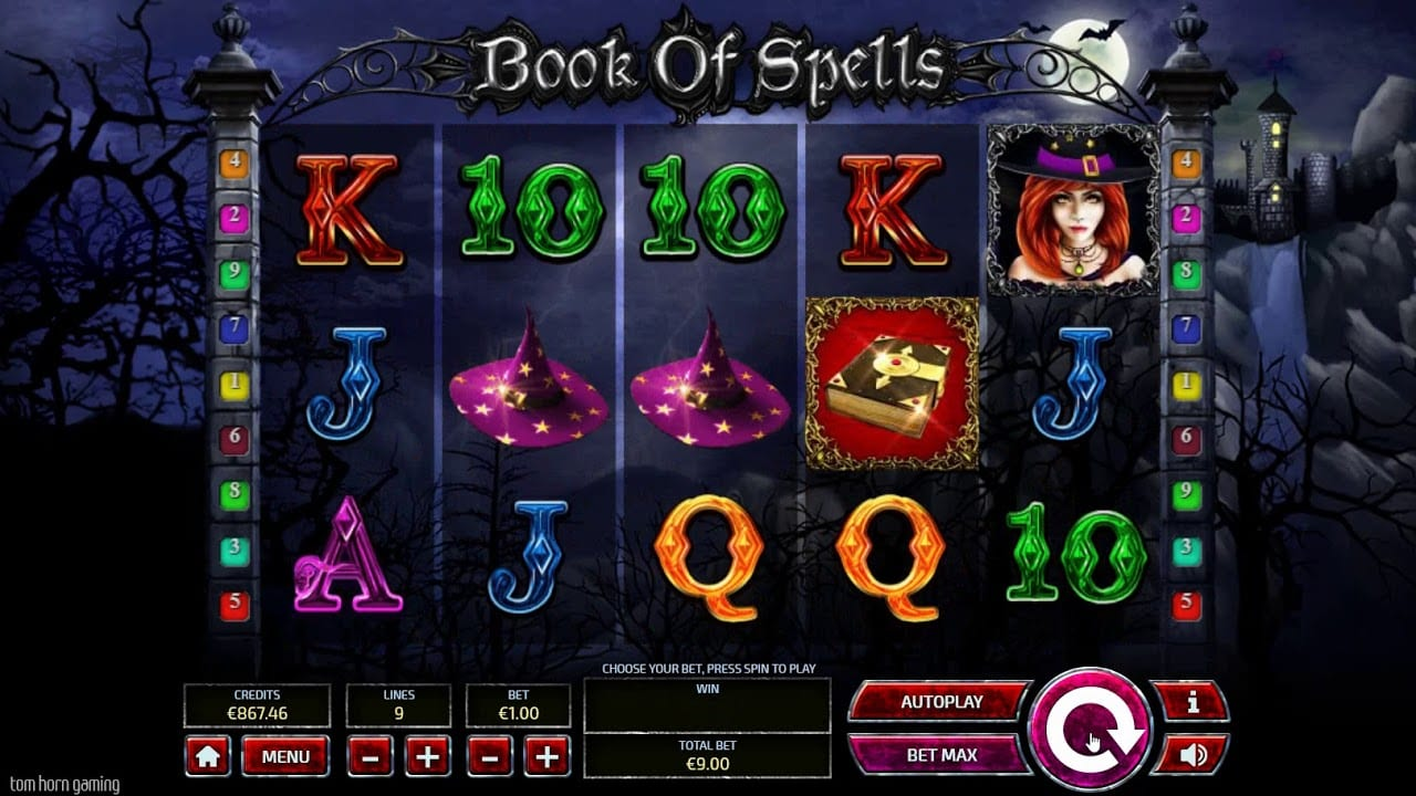 book of spells slots game gameplay