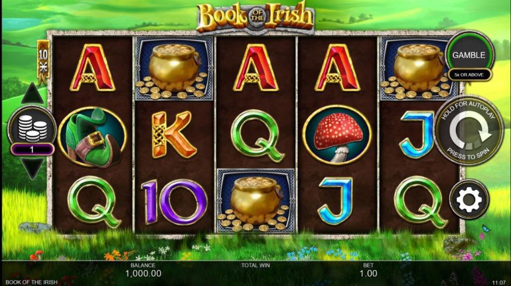 Book of the Irish slot gameplay