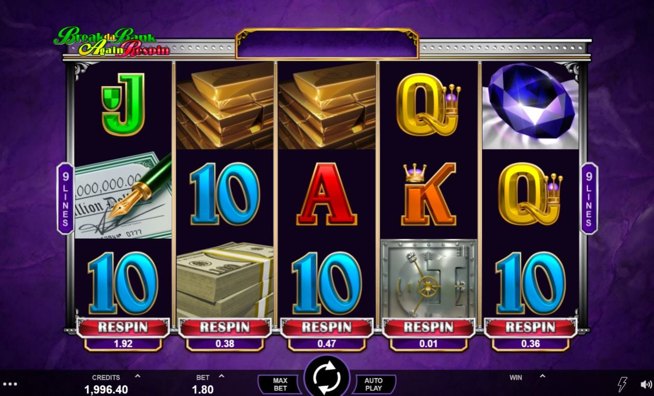Break da Bank Again Respin Casino Gameplay