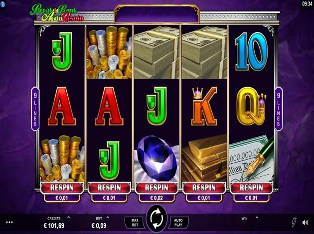 Break da Bank Again Respin Casino Gameplay