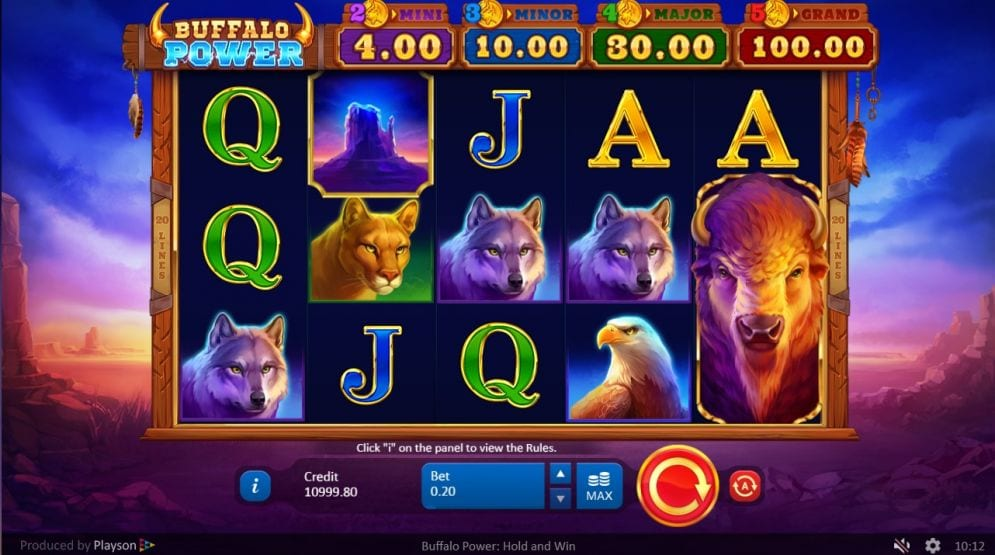 Buffalo Power Hold and Win Slot Game