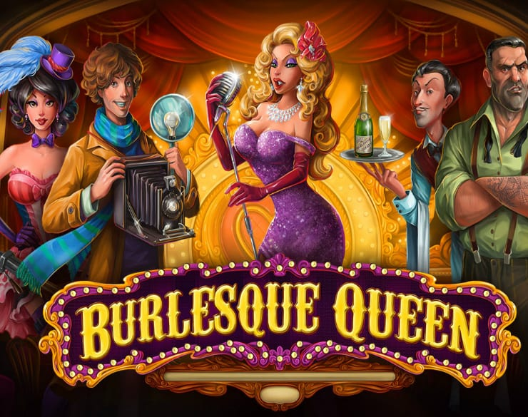 Burlesque Queen online slots game logo